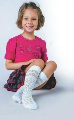 Podkolenky Anita Aleksandra - 6-12 let - bílá