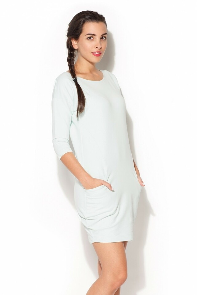 Dámské šaty K181 mint - S - mátová