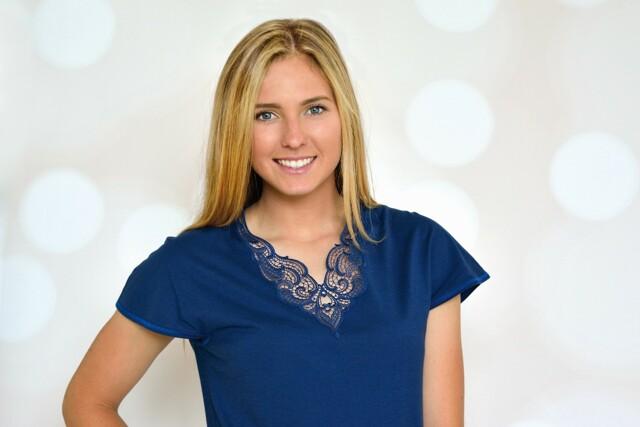 Dámské pyžamo 8015 - Prako - M - tmavě modrá