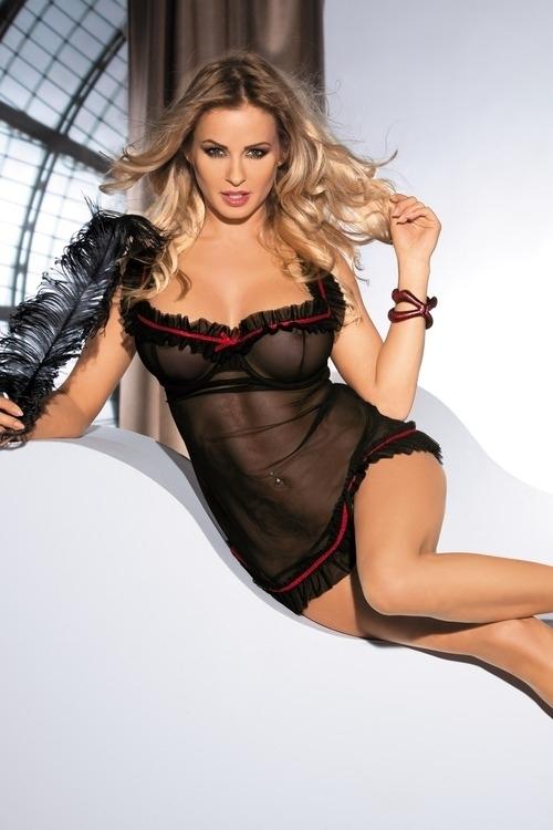 Sexy košilka Lola chemise - Avanua - XXL/XXXL - černá