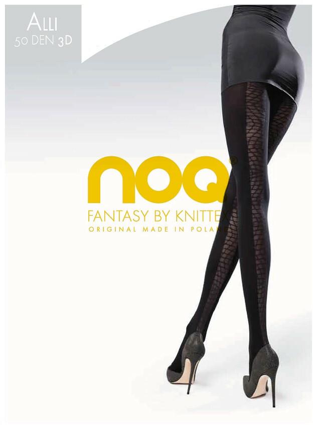 Punčochové kalhoty Knittex Noa Alli 3D 50 den - 2-S - denim/odstín modré