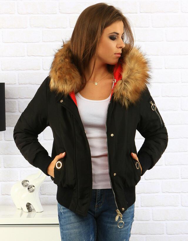 Dámská oboustranná zimní bunda s kapucí MHM-W712 - MHM Fashion - S - zelená