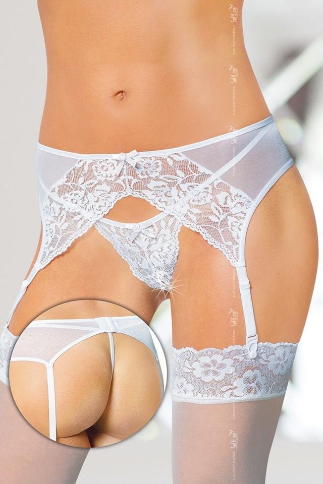 Erotický podvazkový pás 3317 white