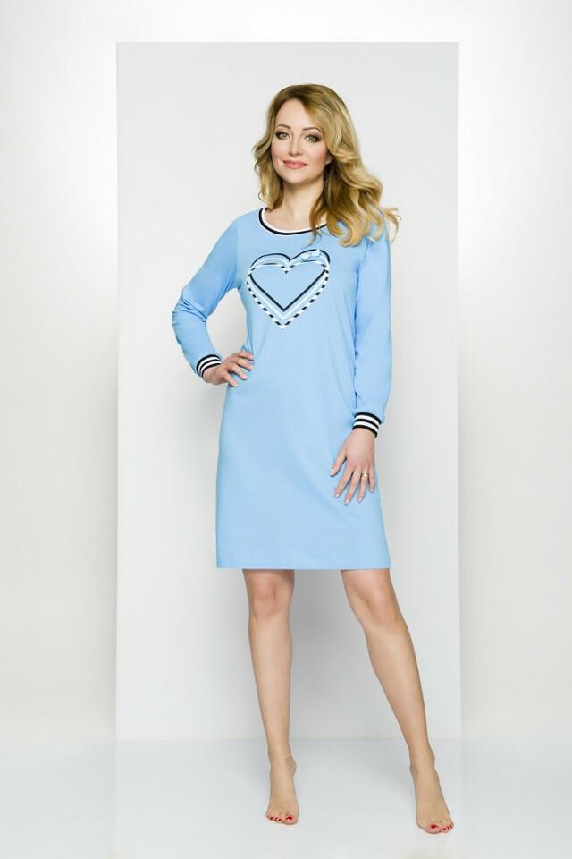Noční košile Regina 306 S-XL dł/r - S - mix