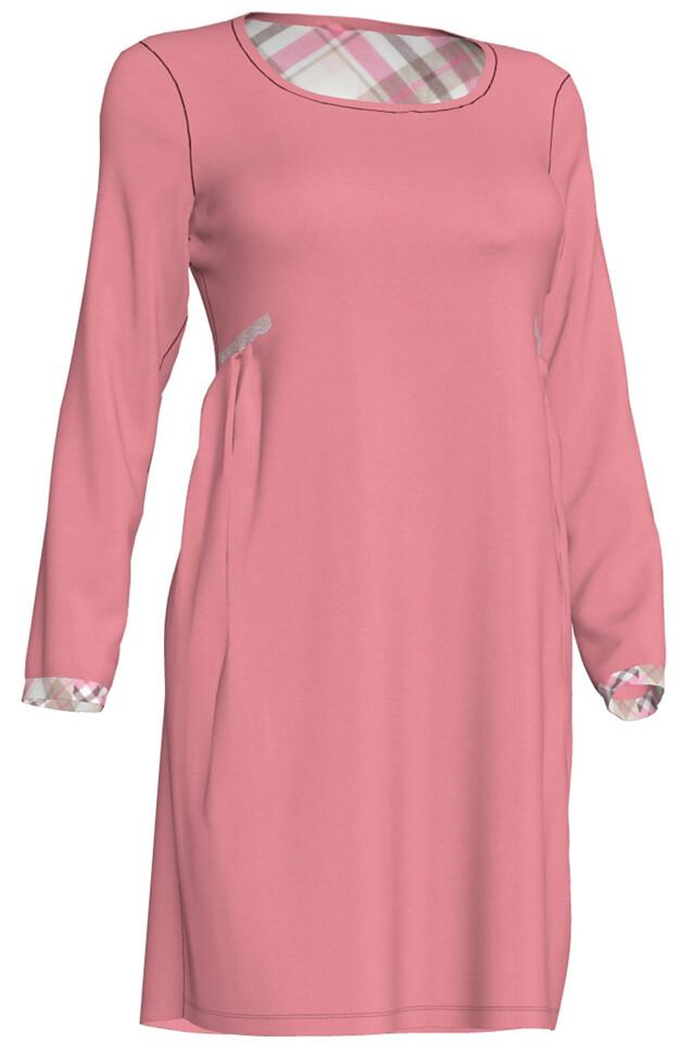 Dámská noční košile Viola 00-10-2657 - Vamp - S - růžová
