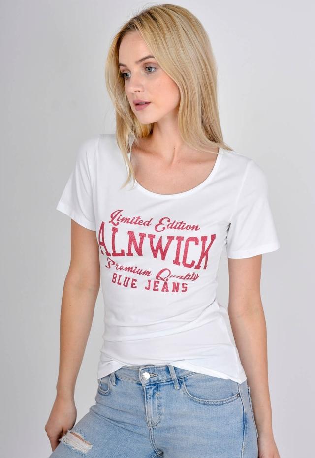 edff36224aa7 Dámské tričko s brokátovým potiskem Alnwick - S M - Červená