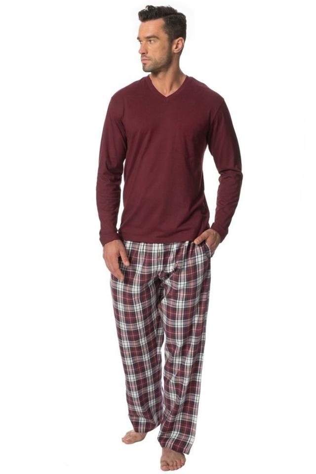 Pánské bavlněné pyžamo Danny vínové