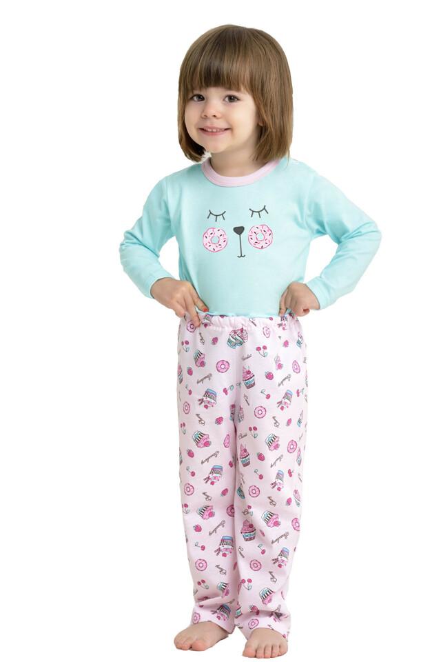 Dívčí pyžamo body a kalhoty - 80