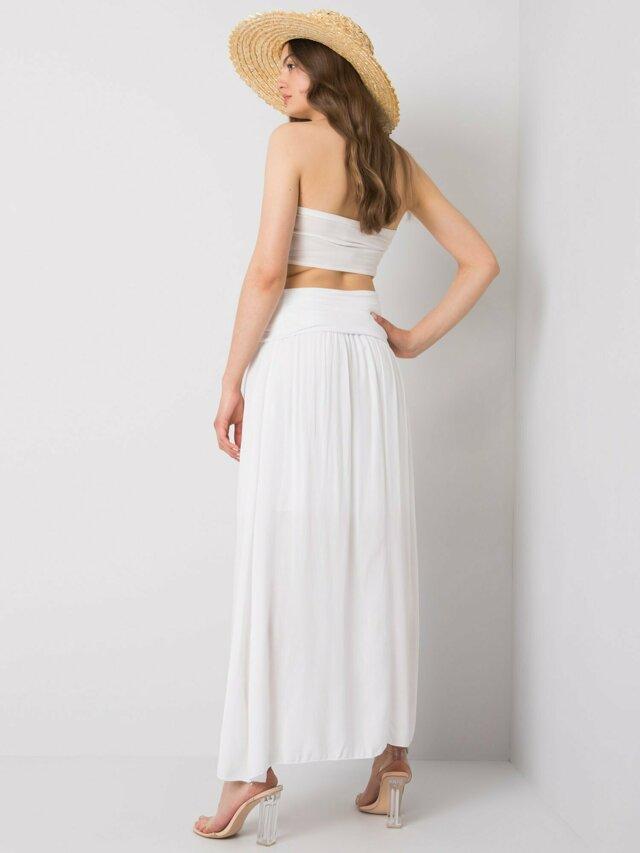 OH BELLA Bílá dlouhá sukně - M