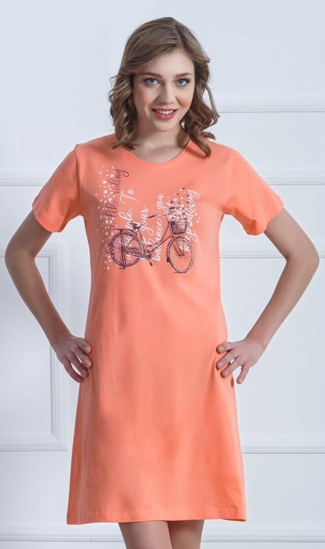 Dámská noční košile Kolo - Vienetta - L - oranžová