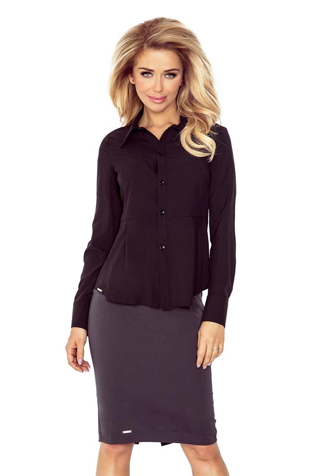 Černá dámská košile MM 016-3