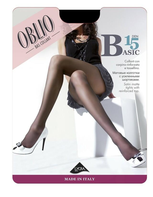 Punčochové kalhoty Oblio Basic 15 den 5XXL - 5-XXL - 078/odstín béžové