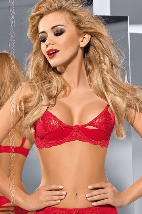 Erotická podprsenka Axami V-5361 Excite me - 80C - červená