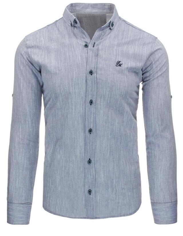 Pánská košile (dx1016) - Frank Martin - XL - šedá melange