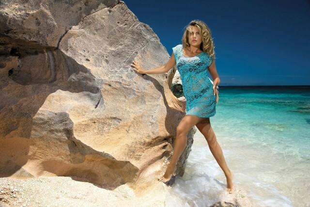 Plážové šaty D-12 mašle - Etna - 36 - černá