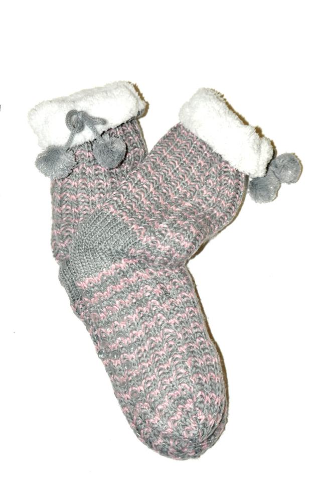 Dámské ponožky Wik Home Socken ABS 71306 - 35-38 - pudrová