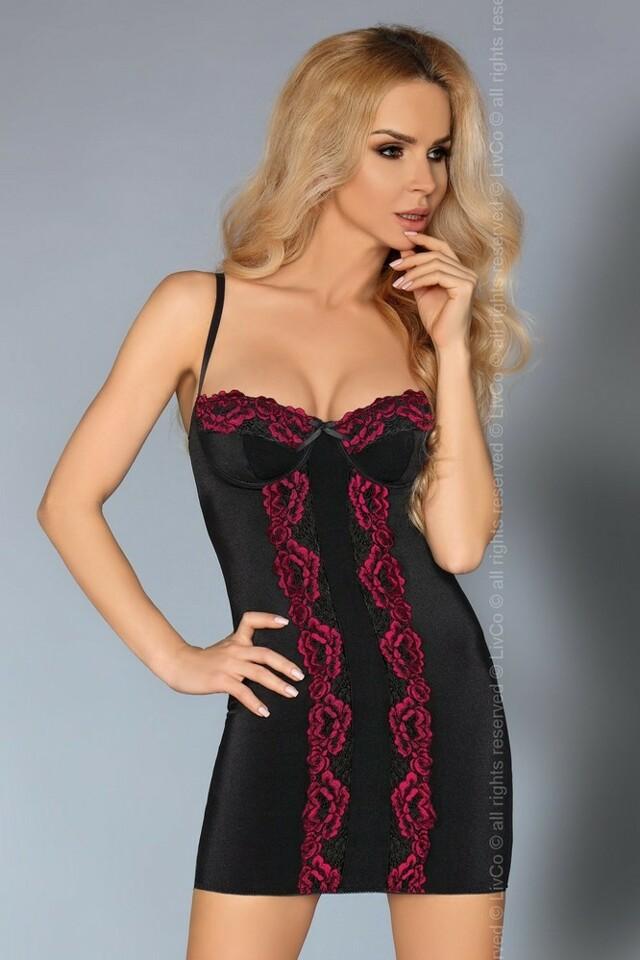 Sexy košilka Roanna - LivCo Corsetti - S/M - černá