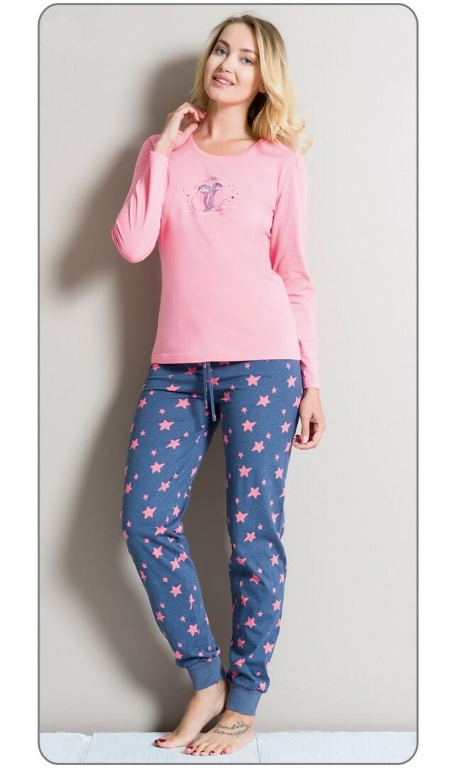 caa64911c720 ... Dámské pyžamo dlouhé Malí tučňáci (277147) - 3 ...