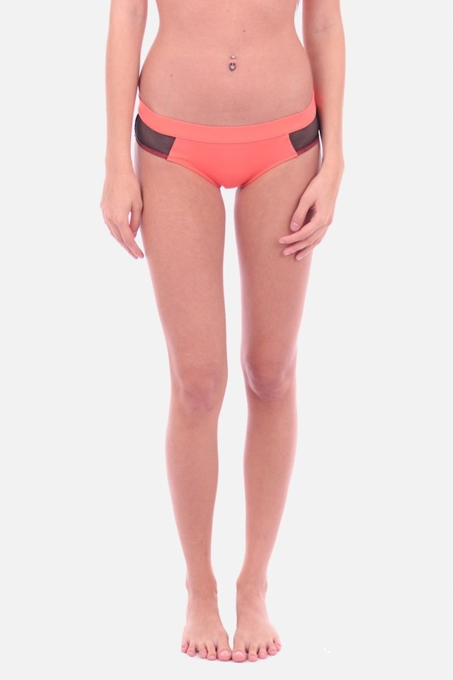Calvin Klein Plavky Hipster Hot Coral Spodní Díl - XS
