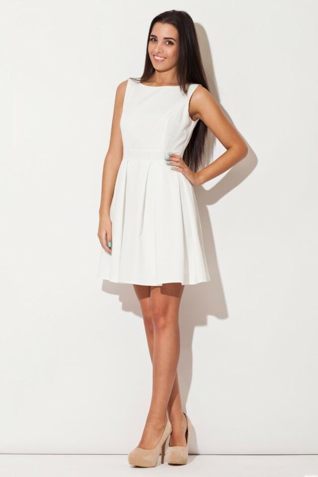 Dámské šaty K128 ecru - S - krémová
