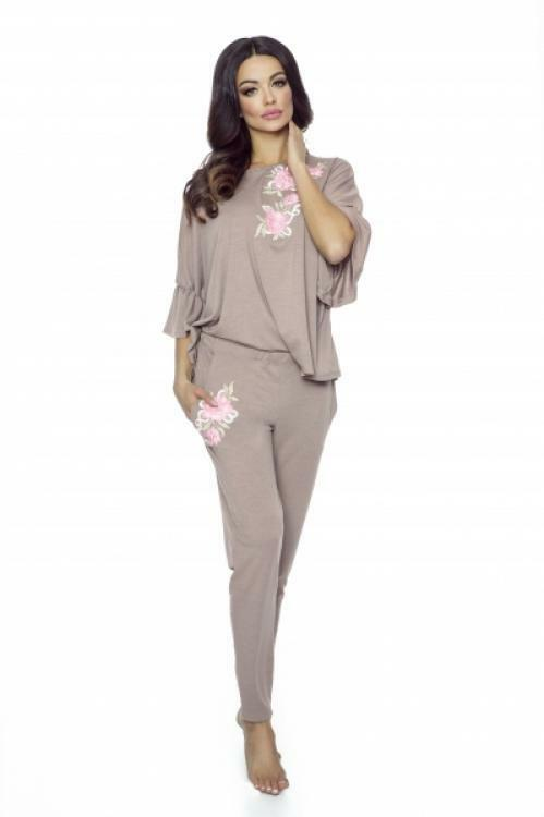 Dámské pyžamo Pigeon P-556/1 - XL - mocca