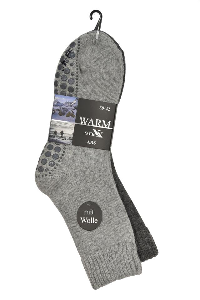 Pánské ponožky 21463 ABS 2-pak - 43/46