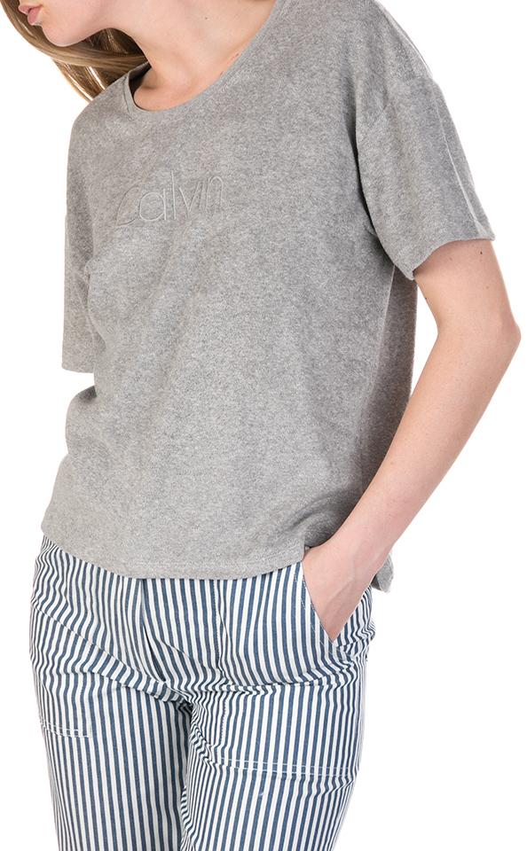 Dámské tričko KW0KW00409-020 šedá - Calvin Klein