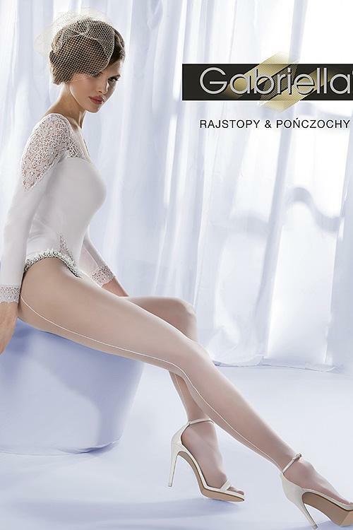Punčochové kalhoty Gabriella Wedding Charme 01 Code 304 - 2-S - bianco