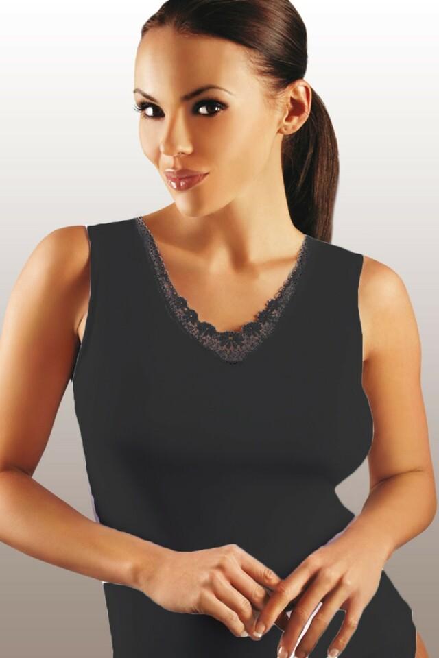 Dámská košilka Majka plus black - XXL - černá
