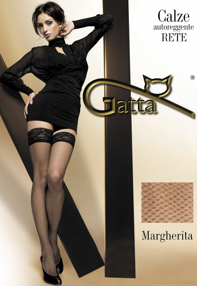 Punčochy samodržící Margherita 01 - Gatta - 1-2 - beige