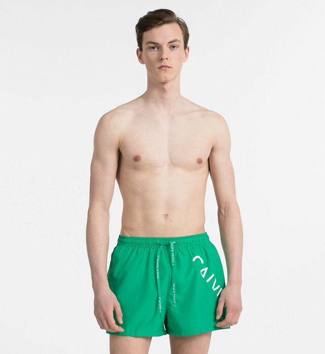 Pánské plavky KM0KM00161-312 zelená - Calvin Klein