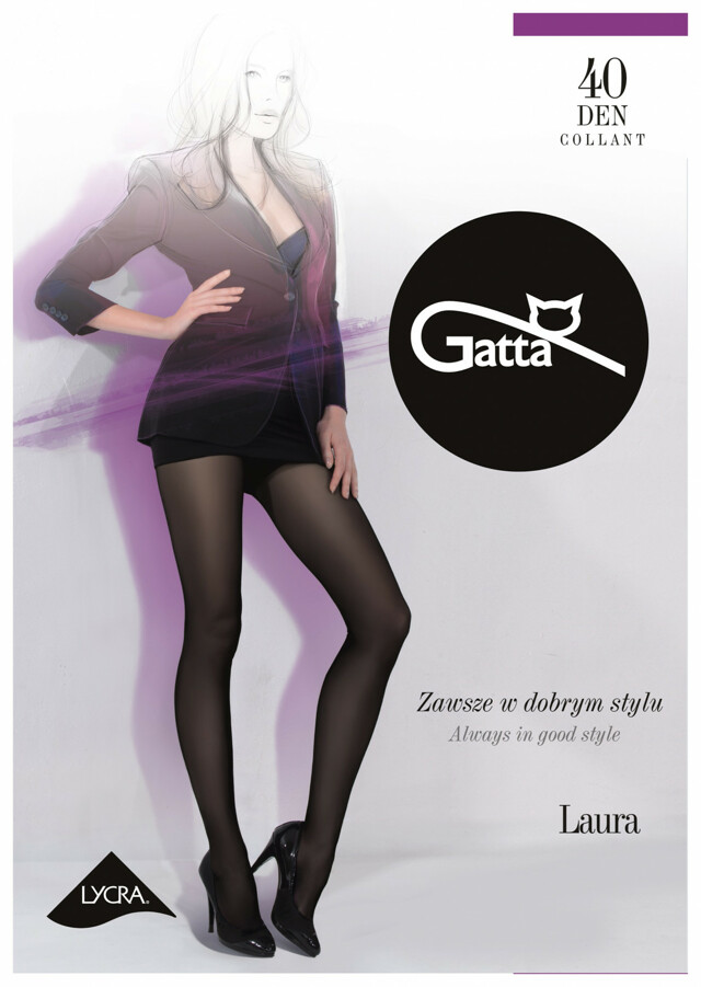 Dámské punčochové kalhoty Gatta| Laura 40 den - 4-L - Londýn / epizodagrafit