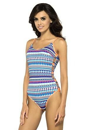 Jednodílné plavky Sarah pestrobarevné