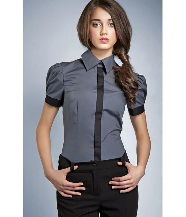 Dámská košile 20205 - Nife - 36 - šedá