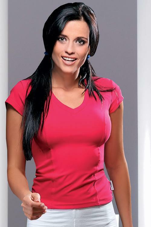 Dámské tričko Gracia pink - XL - sytě růžová