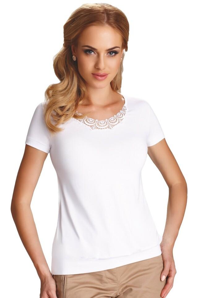 Dámské triko Carlita bílé - XL