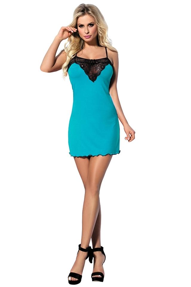Dámská košilka Martina turquoise - S - tyrkysová