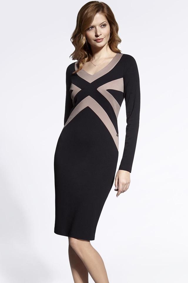 Dámské šaty Enny 200054 - 38 - černo-béžová