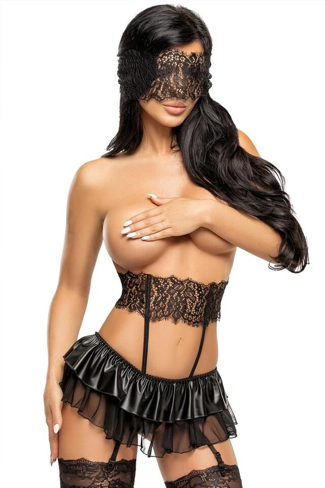 Erotická souprava Berenice - L/XL - černá