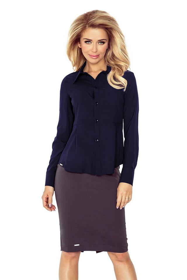 Tmavě modrá dámská košile MM 016-5