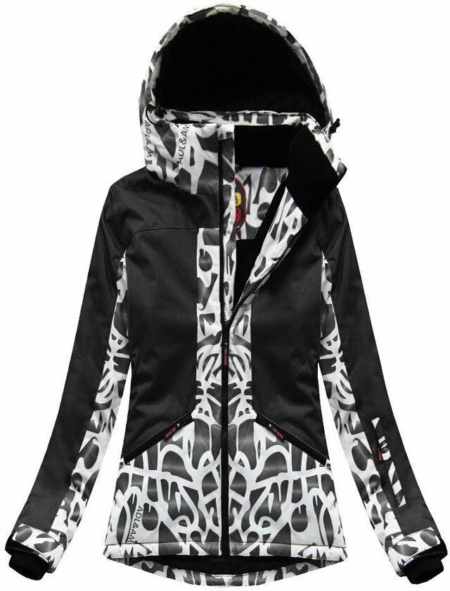 Černá dámská zimní bunda s membránou (W187) - XL (42) - černá