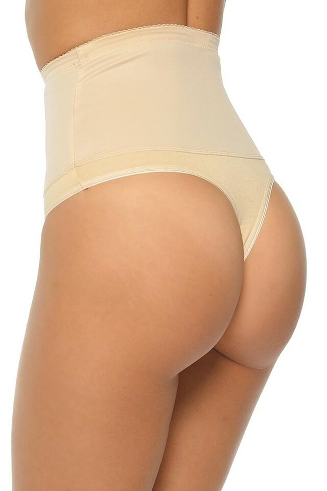 Dámské stahovací tanga Iga beige - XL - béžová