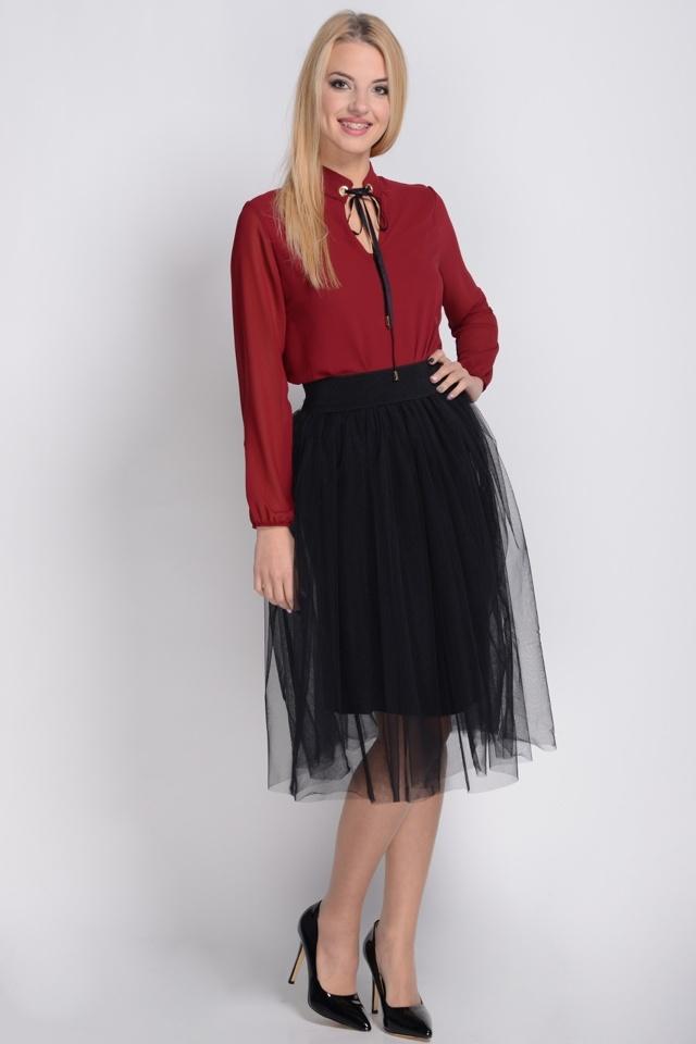 Dámská tylová sukně Avaro SP-101 - UNI - černá