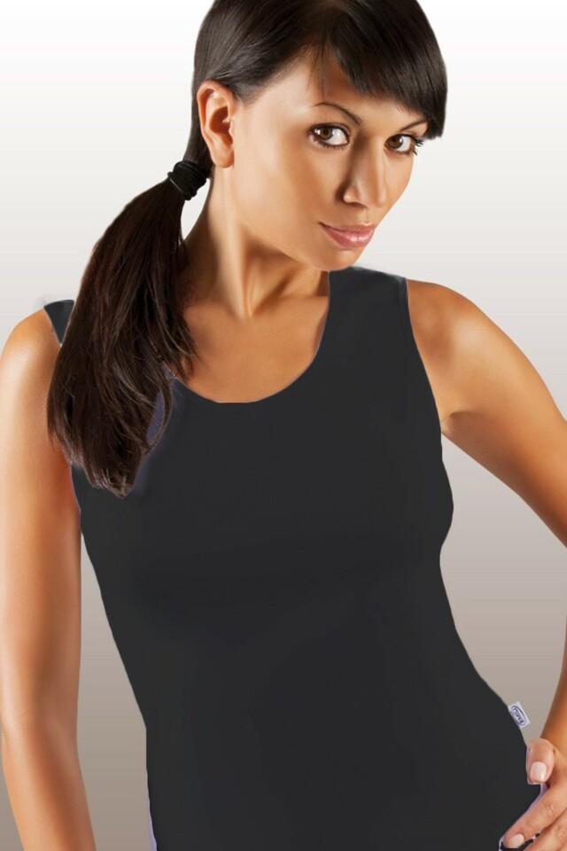 Dámská košilka Sara plus black - XXL - černá