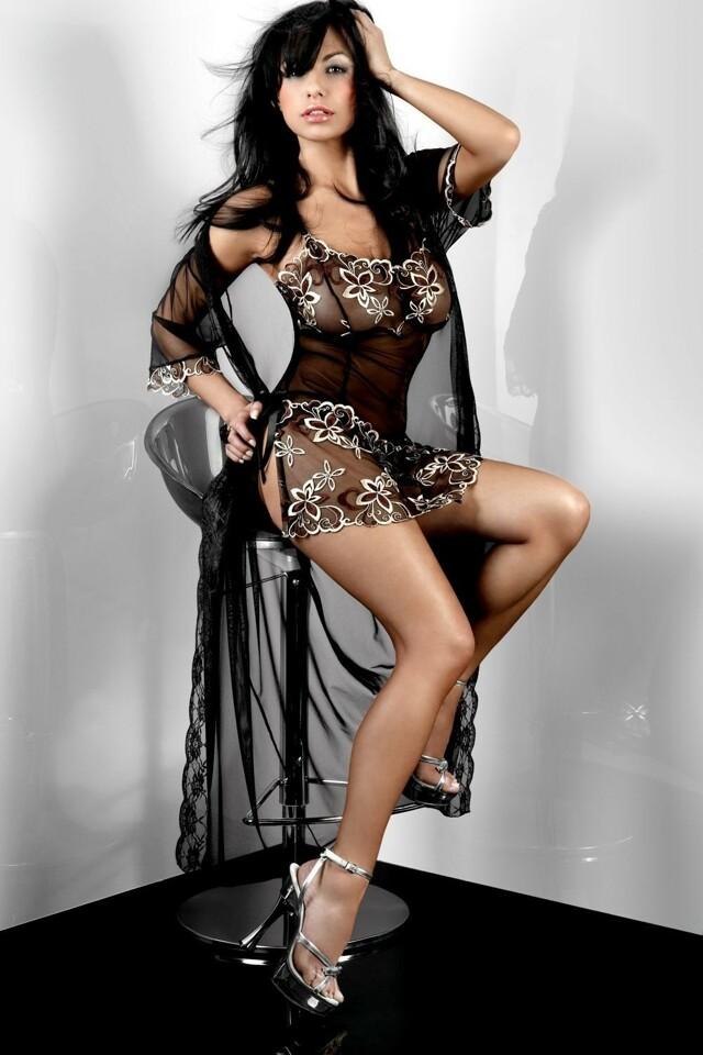 Erotický župan Hera Dressing Gown XXL - XXL - viz foto