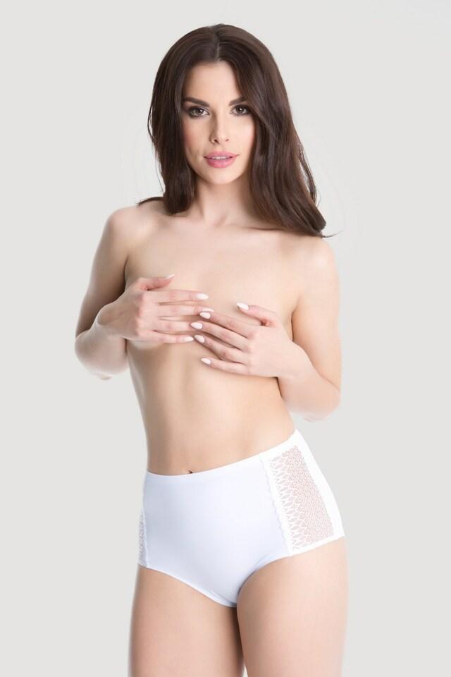 Kalhotky Opal bílá - Julimex - 3XL - bílá