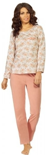 Dámské pyžamo 523 - Luna - XL - růžovo/bílá