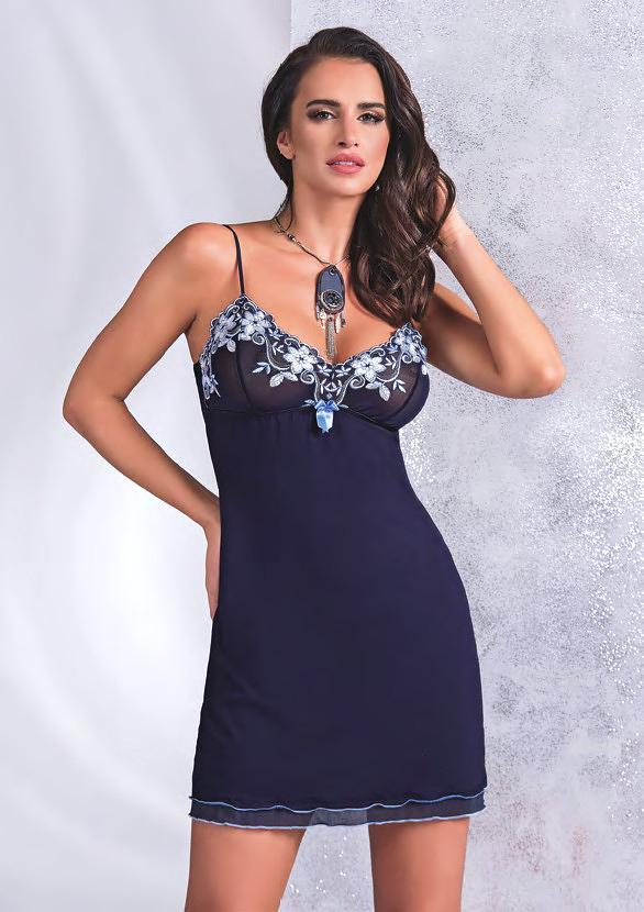 Noční košilka Donna Kylie - M - tmavě modrá