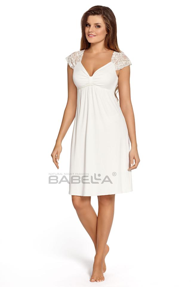 Noční košile Babella Loretta - XL - krémová-béžová