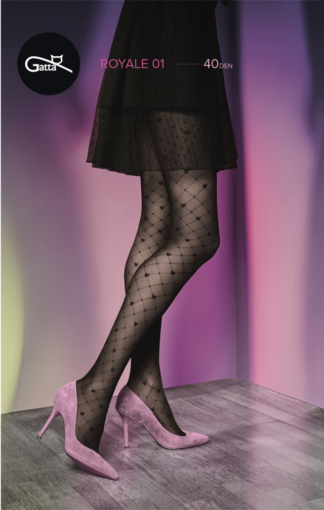 Dámské punčochové kalhoty Gatta Royale vz.01 40 den - 2-S - nero c987a96daf